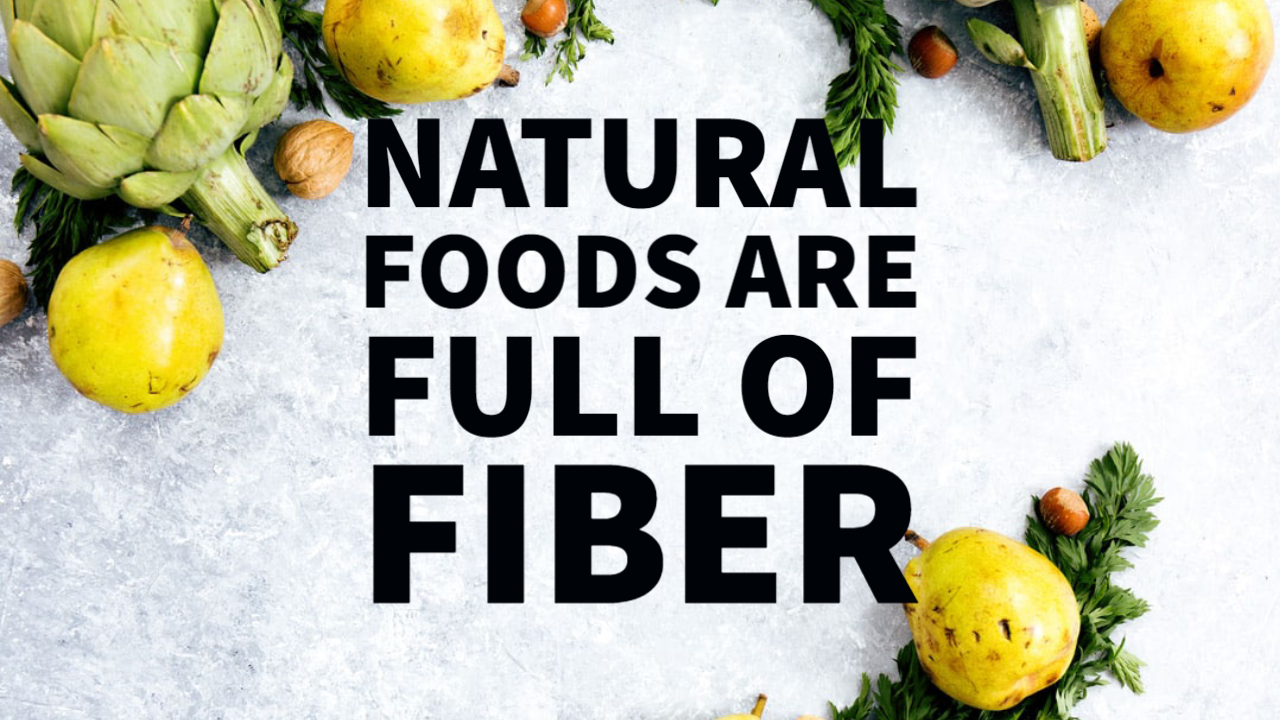 fiber from natural foods cure constipation