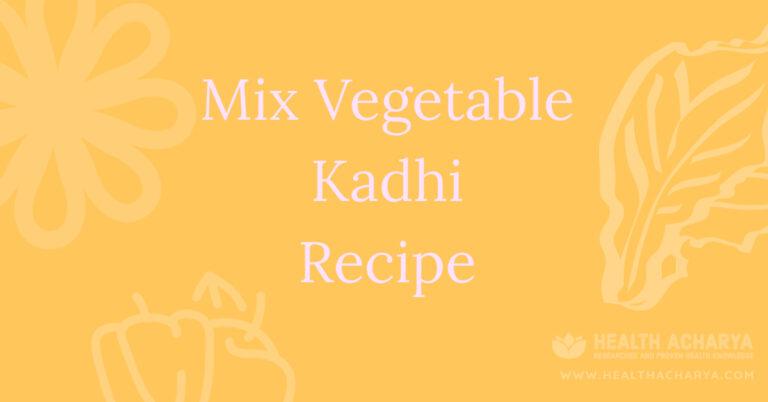 mix vegetable kadhi recipe