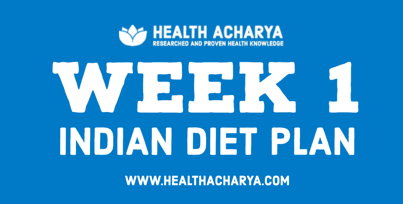 diet plan for weight loss - week 1