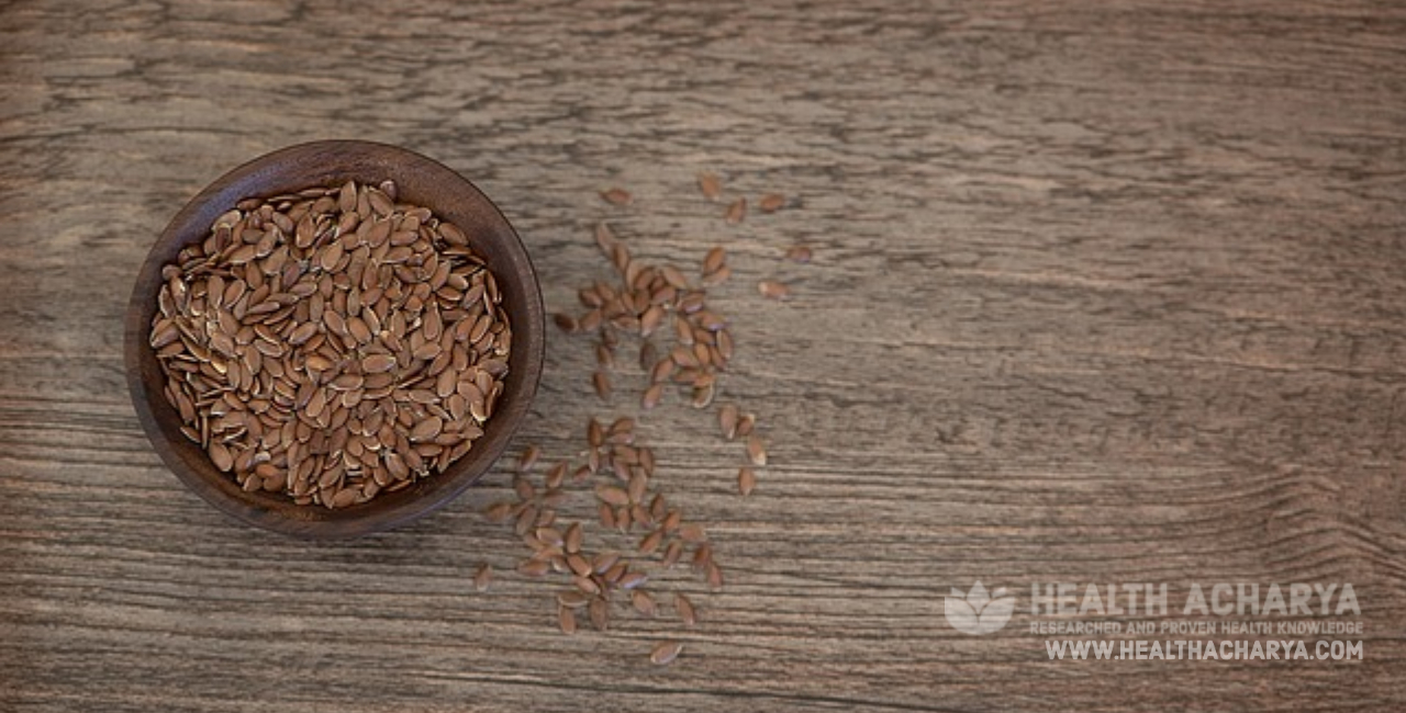 flaxseed can give comfort in constipation