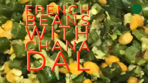 french beans chana dal fry