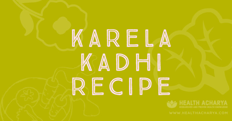 karela kadhi recipe